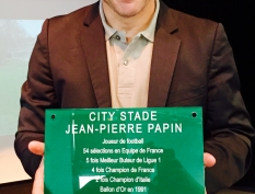 Inauguration City Stade Jean Pierre Papin